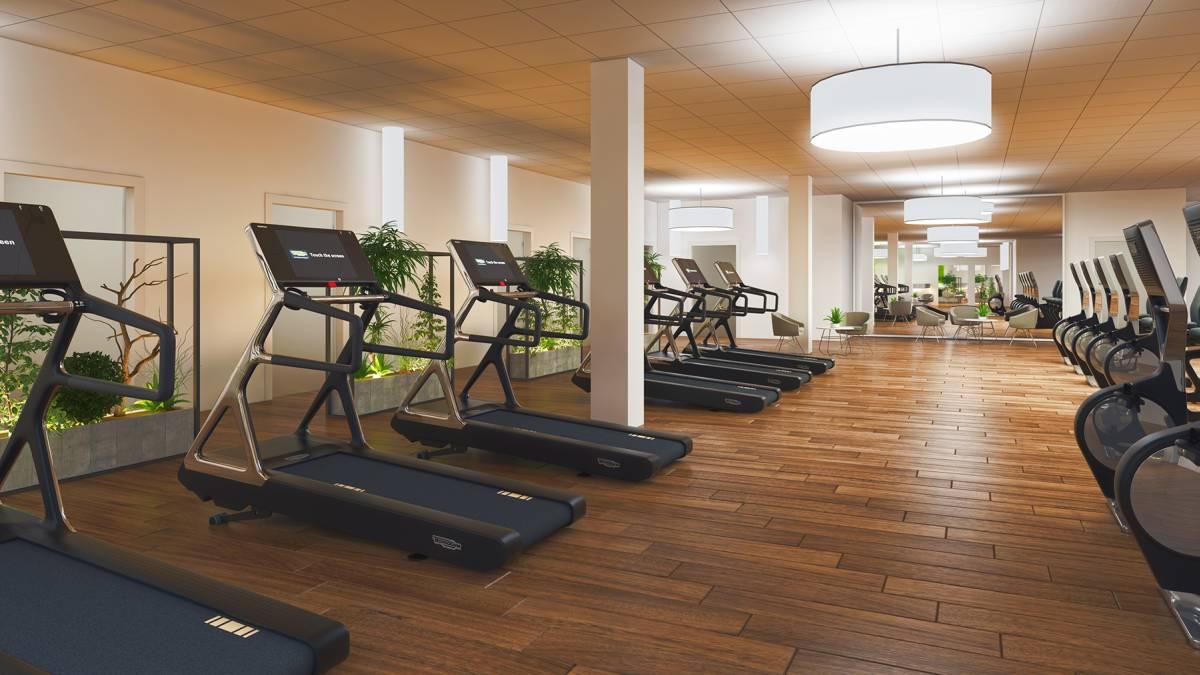 3d Rendering Fitnessstudio