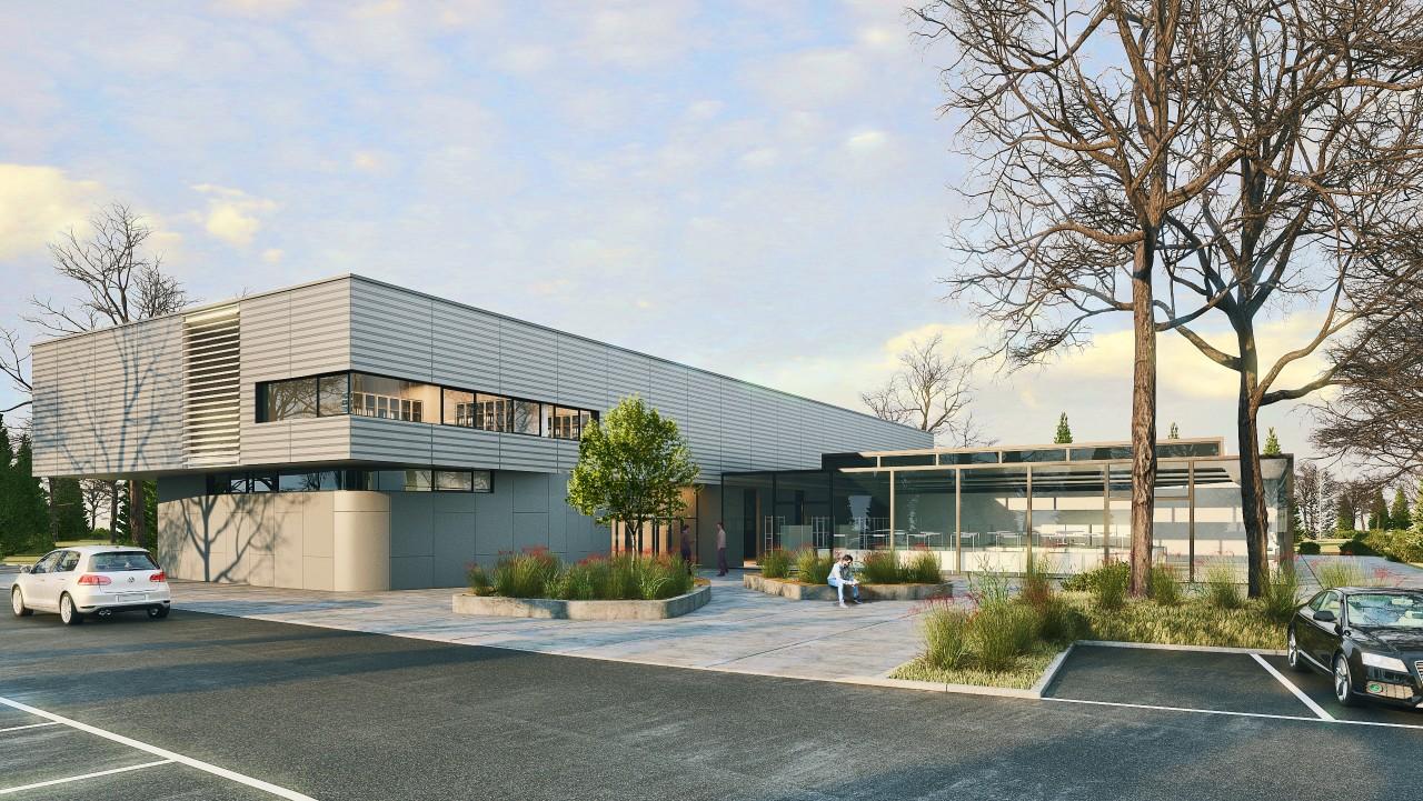 3D Rendering eines Firmengelände als Architekturwettbewerb