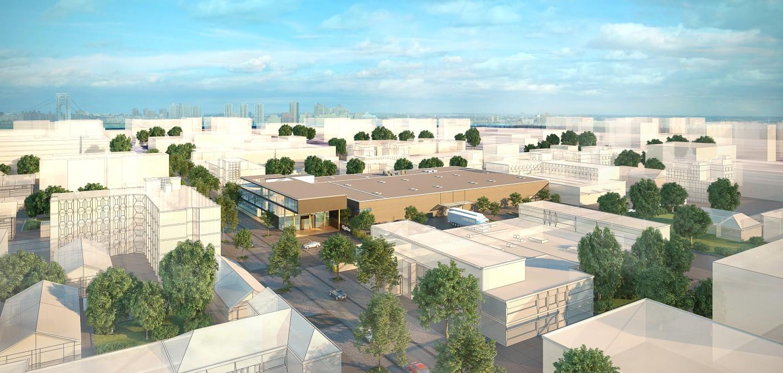 Vogelperspektive Neubau von Fa. ChipOne in Deutschland