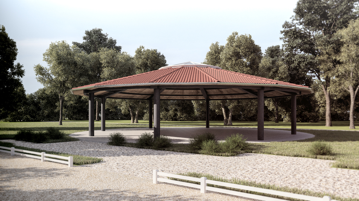 Visualisierung eines Reit-Pavillon in Butzbach